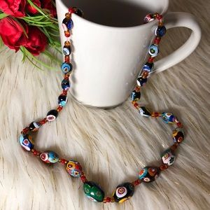 Italian glass beads necklace